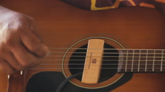 Islander Playing the Guitar in PALAU Stock Footage