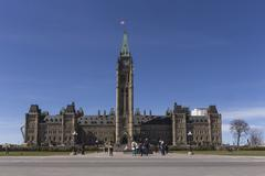 Stock Photo of Centre block of the Canadian Parliament