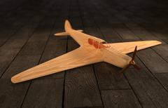 Toy Airplane - stock illustration