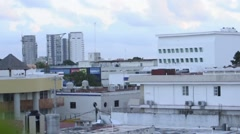 Exterior urbanization rooftops in tropics 2 - stock footage