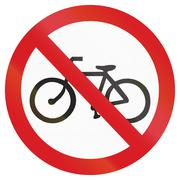 No Bicycles in Argentina - stock illustration
