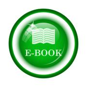 Stock Illustration of E-book icon. Internet button on white background..