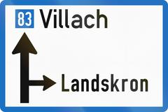 Direction Sign in Austria Stock Illustration