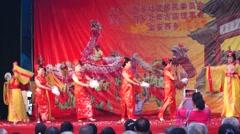 Shenzhen Xixiang Pak Tai Temple celebration activities Stock Footage