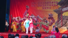 Shenzhen Xixiang Pak Tai Temple celebration activities Stock Footage