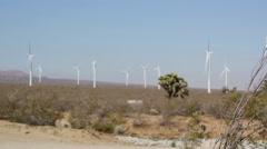 Desert Wind Turbines 08 - stock footage