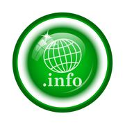 Stock Illustration of .info icon. Internet button on white background..