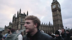 Big Ben in London Stock Footage