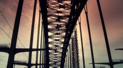 Bridge Drive Through Stock Footage