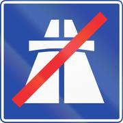 End Of Motorway in Chile Stock Illustration