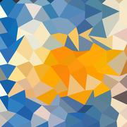 Stock Illustration of Azure Blue Abstract Low Polygon Background