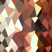 Burnt Sienna Abstract Low Polygon Background - stock illustration