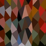 Burnt Umber Abstract Low Polygon Background - stock illustration