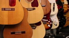 Guitar tilt shot - stock footage