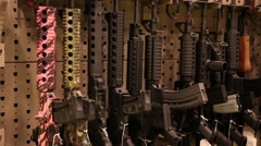 Guns tight shot - stock footage
