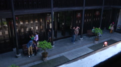 Stock Video Footage of People in courtyard of Former Residence of Li Hongzhang, Hefei, China