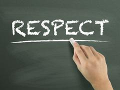 Respect word written by hand Stock Illustration