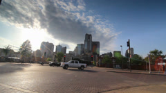Downtown Dallas from Farmers Market Stock Footage