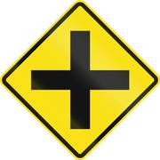 Intersection Ahead In Chile Stock Illustration