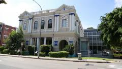 Buildings Singapore Philatelic Museum and Masonic Hall in Singapore Stock Footage