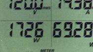 Stock Video Footage of Digital power meter 3