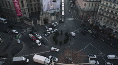 Stock Video Footage of Roundabout in France
