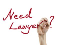 need lawyer words written by hand - stock photo