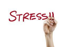 Stress word written by hand Kuvituskuvat