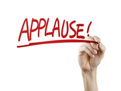 Applause word written by hand Stock Photos