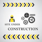 site under construct  symbol - stock illustration