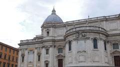 Basilica of St Mary Major. Piazza dell' Esquilino. Rome, Italy Stock Footage