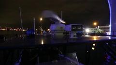 Spinning Radar on US Customs Patrol Boat - stock footage