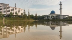 Timelapse at UNITEN mosque Stock Footage