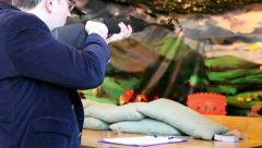Target in shooting gallery - stock footage