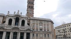 Basilica of St Mary Major. Rome, Italy. 4K Stock Footage