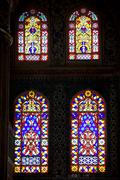 Blue Mosque Stained Glass Windows - stock photo