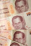 Thai Baht depicting King Bhumibol Adulyadej Stock Photos