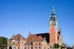 Main Railway Station in Gdansk - stock photo