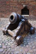Medieval Mortar Cannon - stock photo