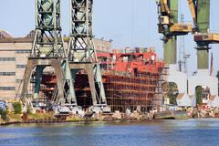 Shipyard Industrial Scenery Stock Photos
