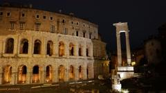 Teatro Di Marcello. Rome, Italy. 1280x720 Stock Footage