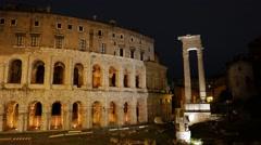 Teatro Di Marcello. Rome, Italy Stock Footage