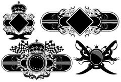 Stock Illustration of set of ornamental labels