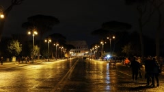 Via dei Fori Imperiali. Colosseum. Rome, Italy. 1280x720 Stock Footage