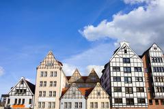 Gdansk Historic Architecture - stock photo