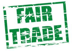 Stock Illustration of Green Rubber stamp effect - Fair trade