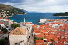 Dubrovnik on the Adriatic Sea in Croatia Stock Photos