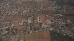 Aerial view of India - stock footage