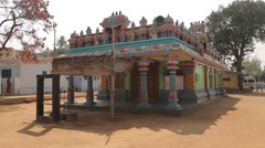 Colorful Hinduism temple in India Stock Footage