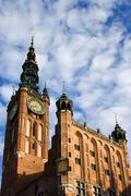 Main Town Hall in Gdansk Stock Photos